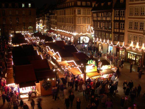 Marché de Noël près de l'Hotel 4 étoiles Regent Contades à Strabourg Centre