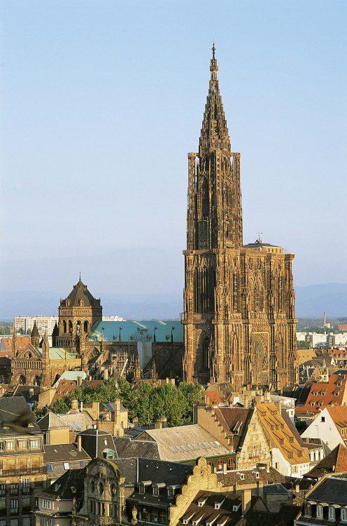 Cathédrale de Strasbourg près de l'Hotel 4 étoiles Regent Contades à Strabourg Centre